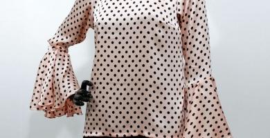 camisas de lunares para mujer