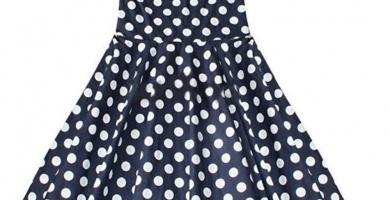 vestidos de lunares para niña